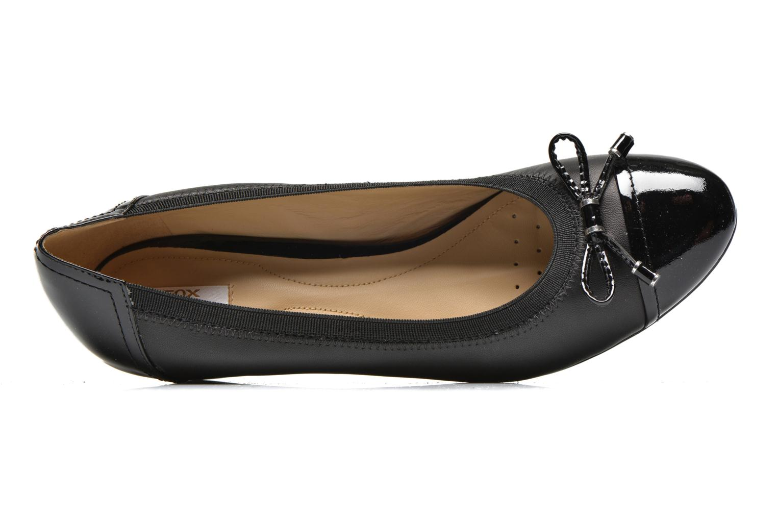 High heels Geox D FLORALIE A D54T4A Black view from the left