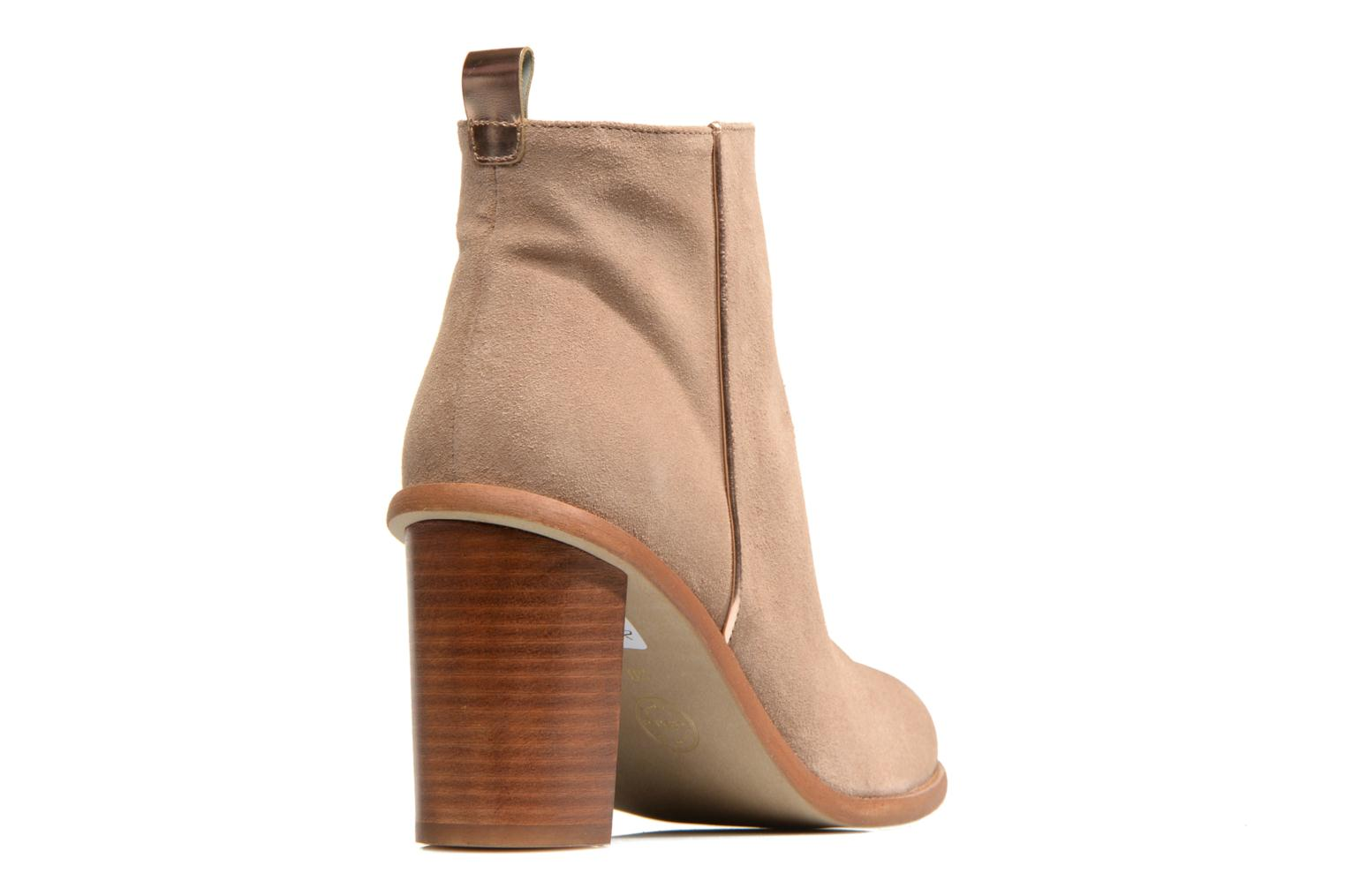 Ankle boots Made by SARENZA Western Fever #5 Beige front view