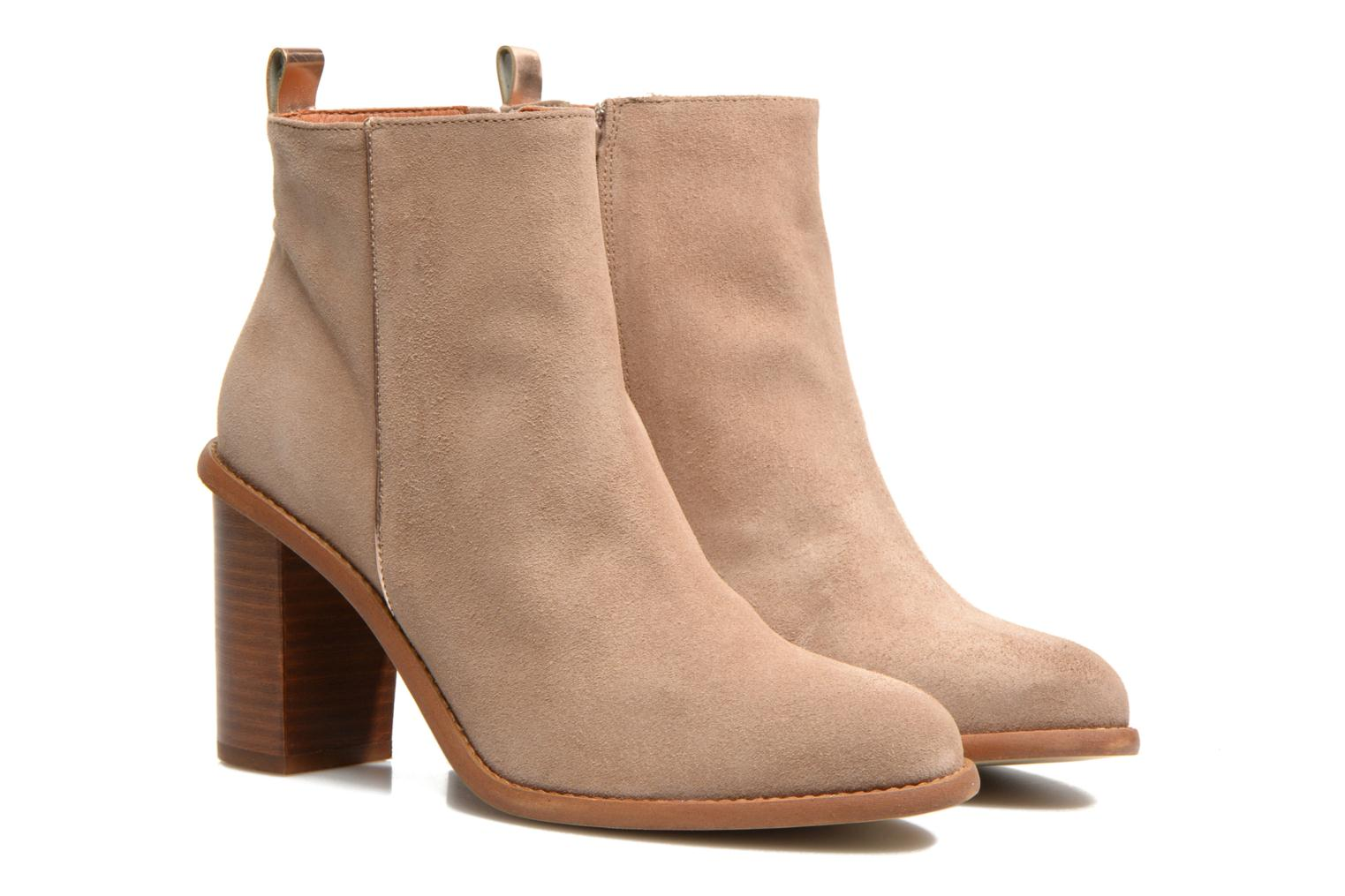 Ankle boots Made by SARENZA Western Fever #5 Beige back view