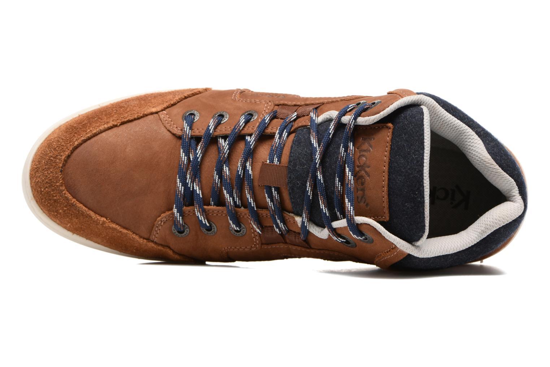 Sneaker Kickers CRAFFITI braun ansicht von links