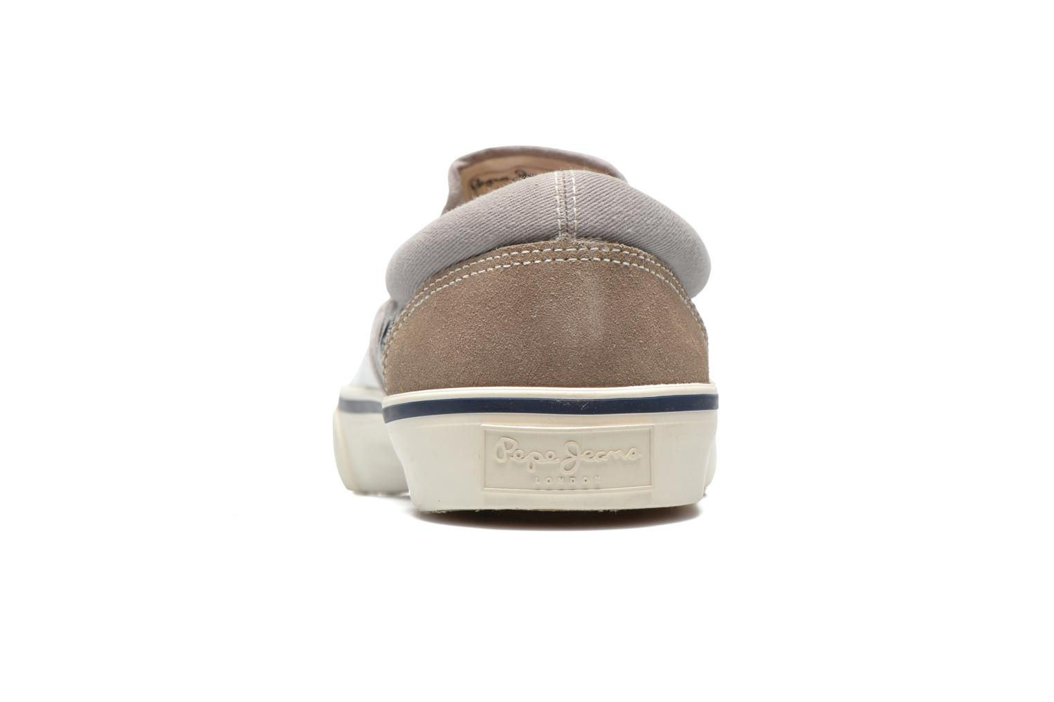 Deportivas Pepe jeans Harry Slip On Gris vista lateral derecha