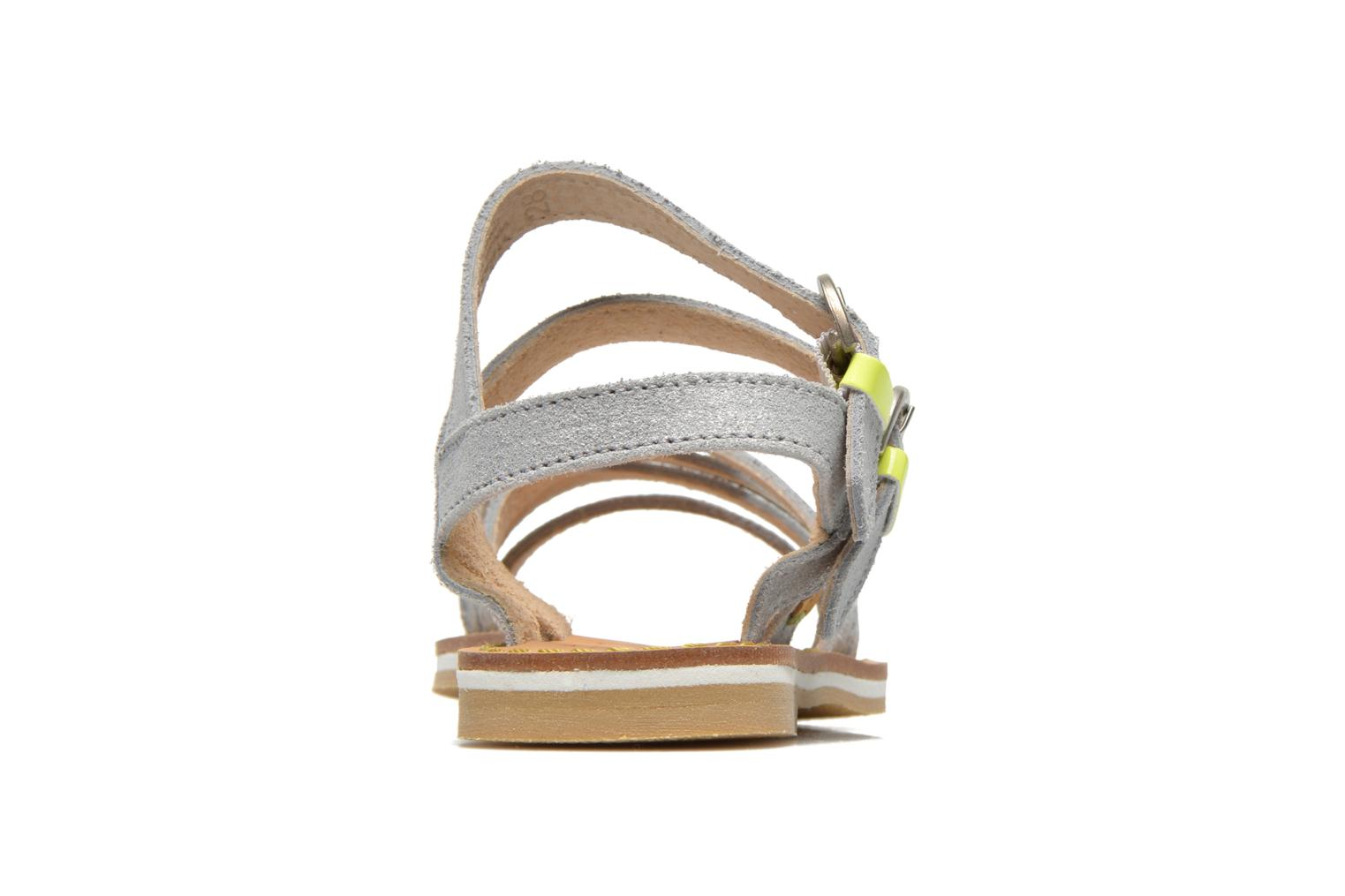 Sandals Pepe jeans Tracy Basic K Silver view from the right