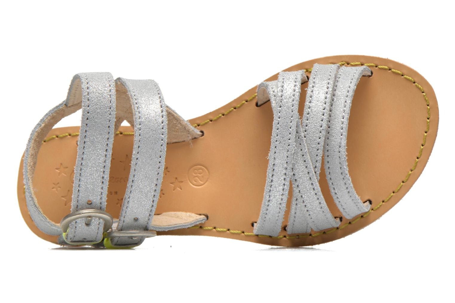 Sandals Pepe jeans Tracy Basic K Silver view from the left