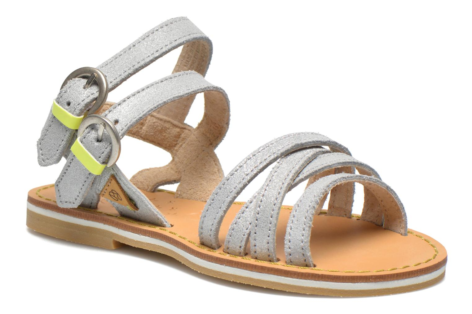 Sandals Pepe jeans Tracy Basic K Silver detailed view/ Pair view