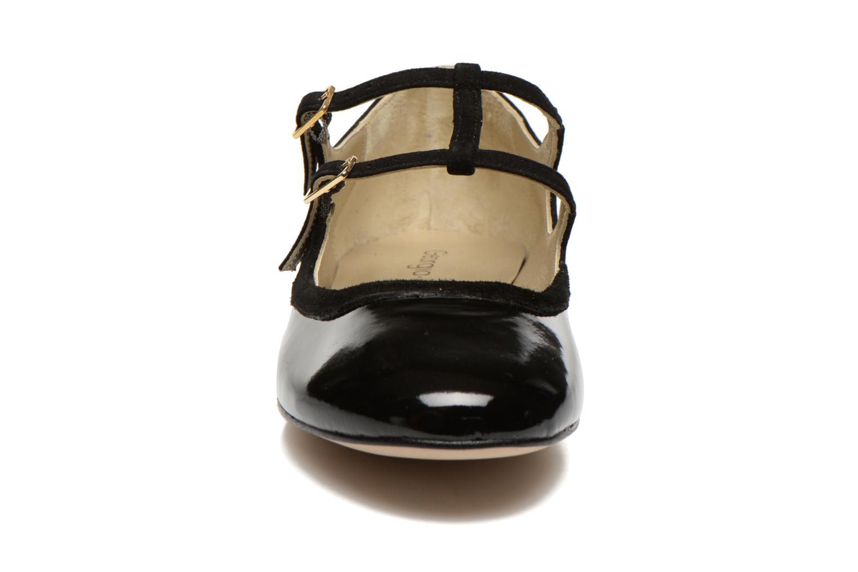 Ballerines Georgia Rose Tania Noir vue portées chaussures