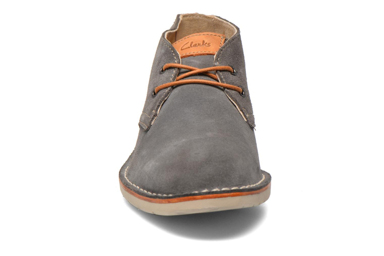 Schnürschuhe Clarks Hinton Rise grau schuhe getragen