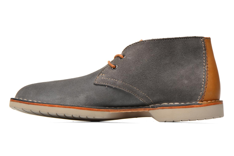 Chaussures à lacets Clarks Hinton Rise Gris vue face