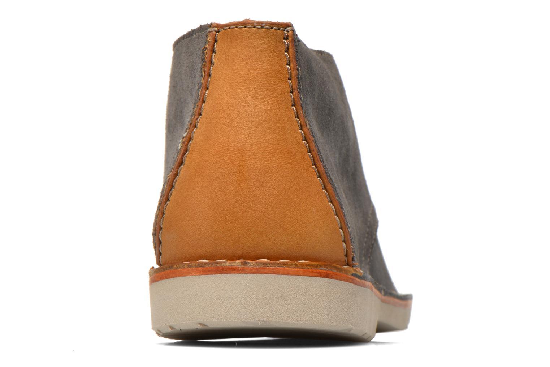 Chaussures à lacets Clarks Hinton Rise Gris vue droite