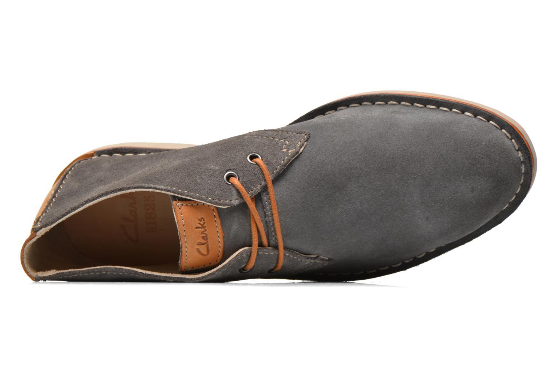 Zapatos con cordones Clarks Hinton Rise Gris vista lateral izquierda