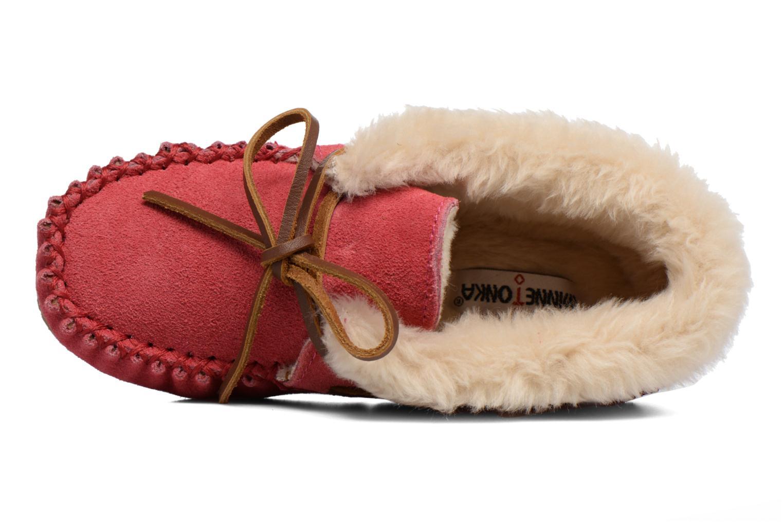 Stiefeletten & Boots Minnetonka Charley rosa ansicht von links