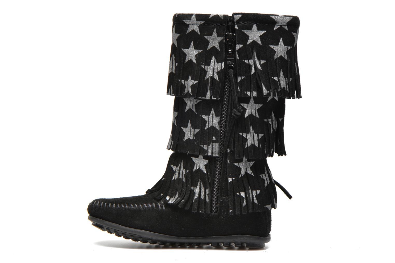 Laarzen Minnetonka Star 3 Layer Zwart voorkant