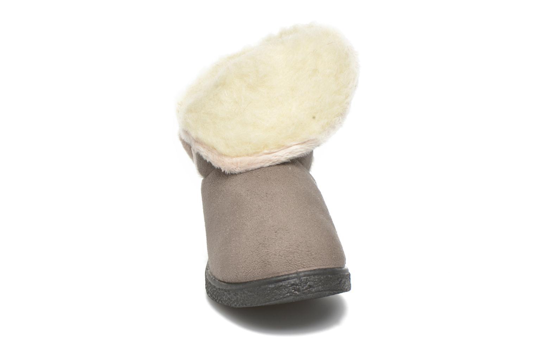 Hausschuhe Rondinaud Dieppe grau schuhe getragen