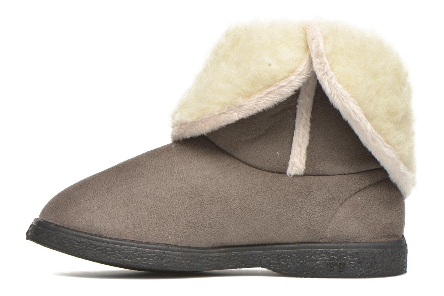 Slippers Rondinaud Dieppe Grey front view