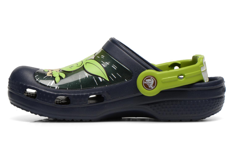 Sandalias Crocs CC Star Wars Yoda Clog Azul vista de frente