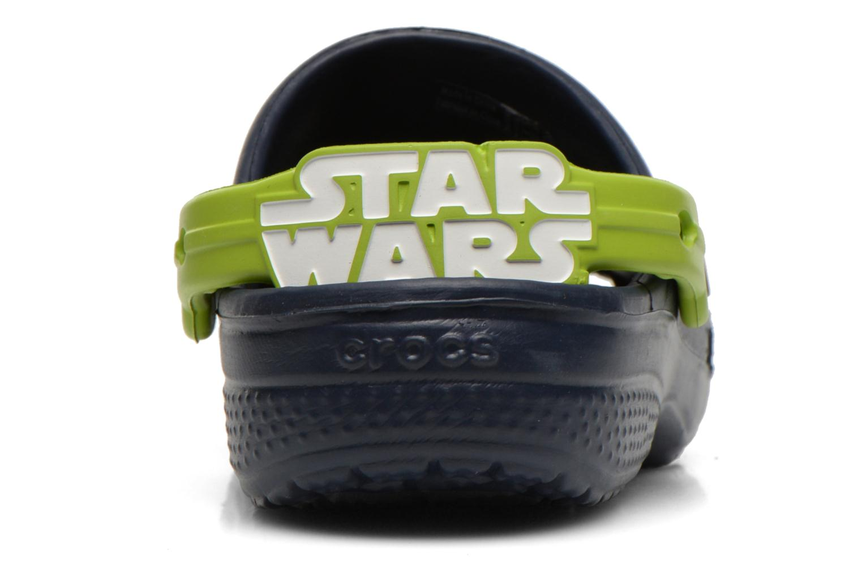 Sandalias Crocs CC Star Wars Yoda Clog Azul vista lateral derecha