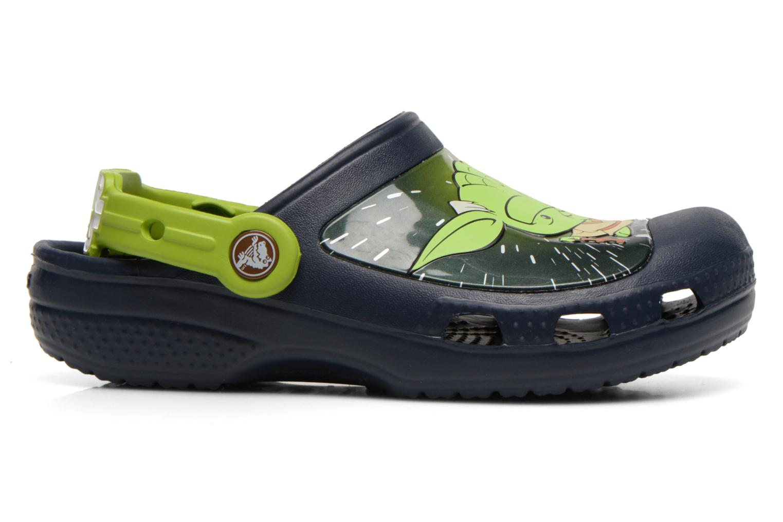 Sandalias Crocs CC Star Wars Yoda Clog Azul vistra trasera