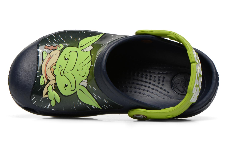 Sandalias Crocs CC Star Wars Yoda Clog Azul vista lateral izquierda