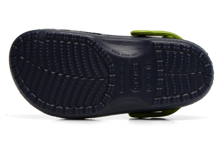 Sandalias Crocs CC Star Wars Yoda Clog Azul vista de arriba