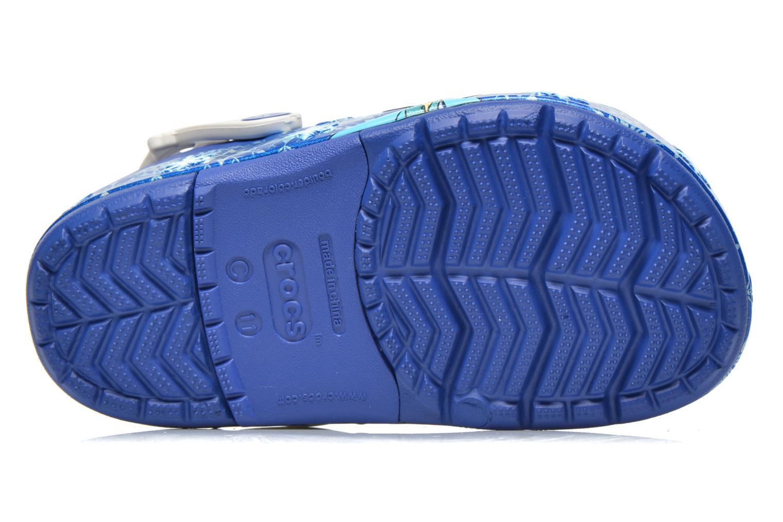 Sandalias Crocs CrocsLights Frozen Clog K Azul vista de arriba