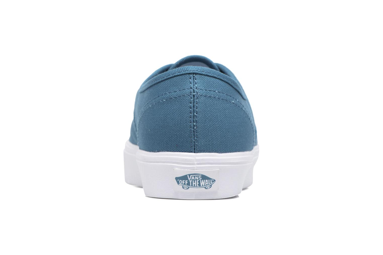 Baskets Vans Authentic Lite Bleu vue droite
