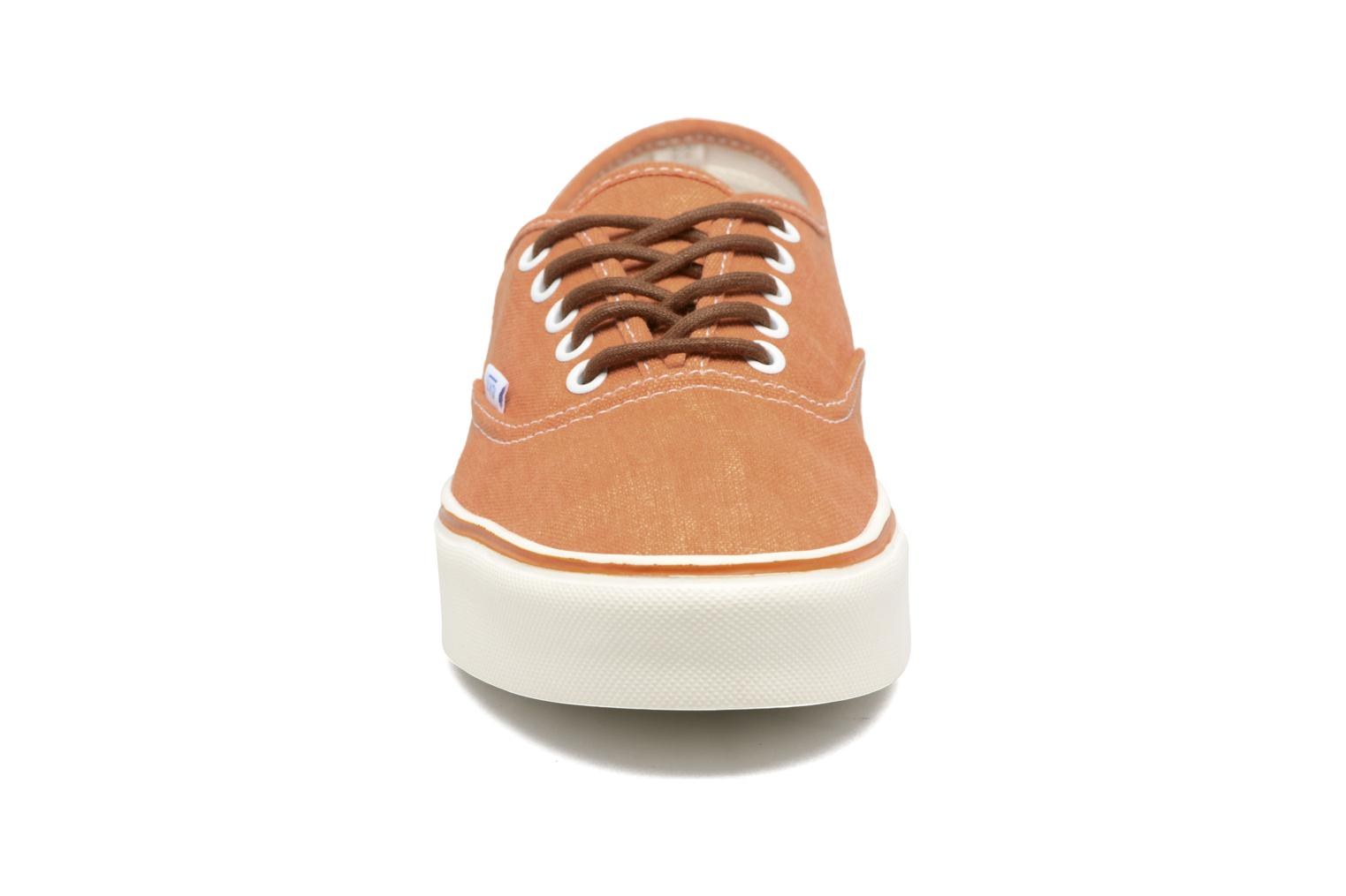 Baskets Vans Authentic Lite Orange vue portées chaussures