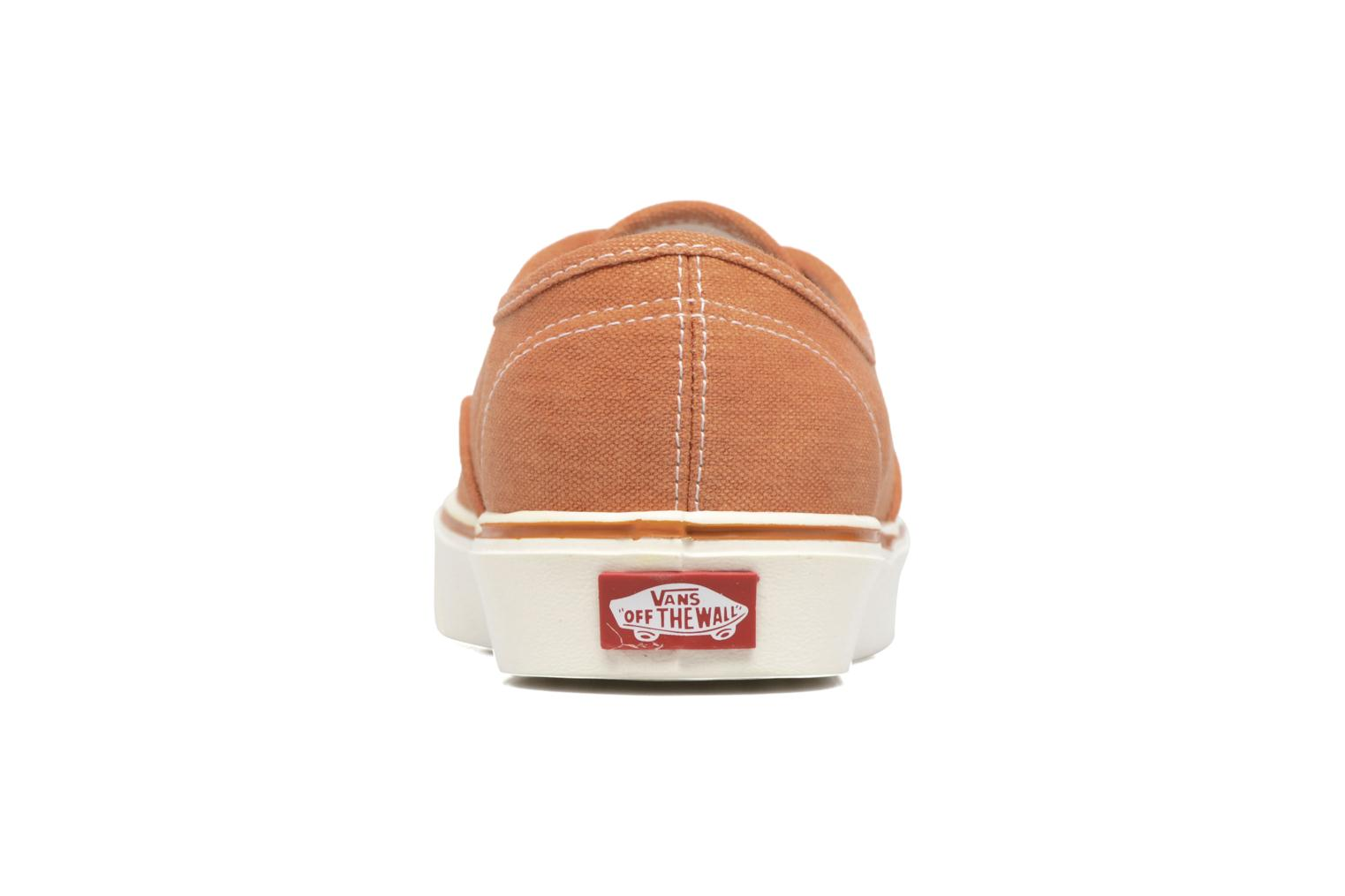 Trainers Vans Authentic Lite Orange view from the right
