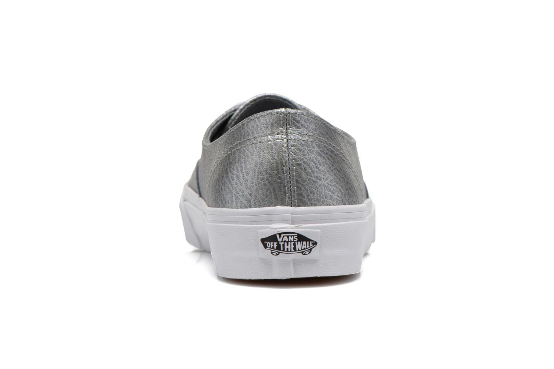 Baskets Vans Authentic Decon W Argent vue droite