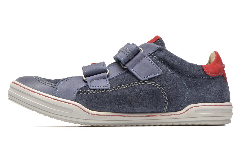Zapatos con velcro Kickers JIUKID Azul vista de frente