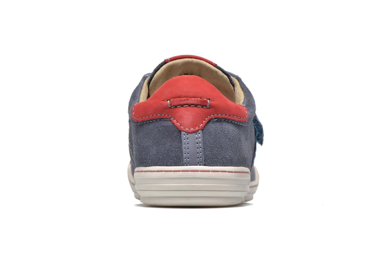 Zapatos con velcro Kickers JIUKID Azul vista lateral derecha