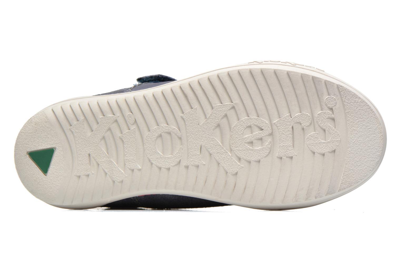 Zapatos con velcro Kickers JIUKID Azul vista de arriba