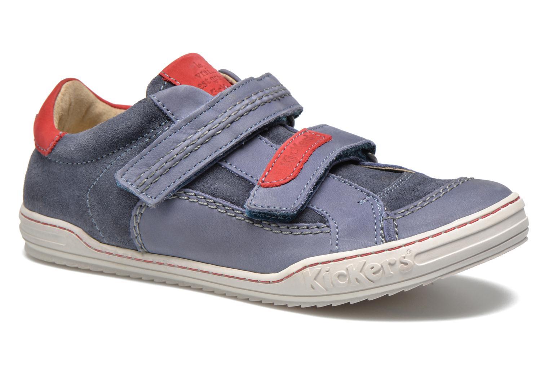 Sko med velcro Kickers JIUKID Blå detaljeret billede af skoene
