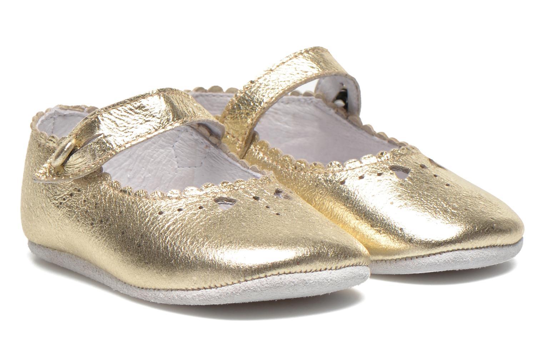 Chaussons Start Rite Baby Elizabeth Or et bronze vue détail/paire