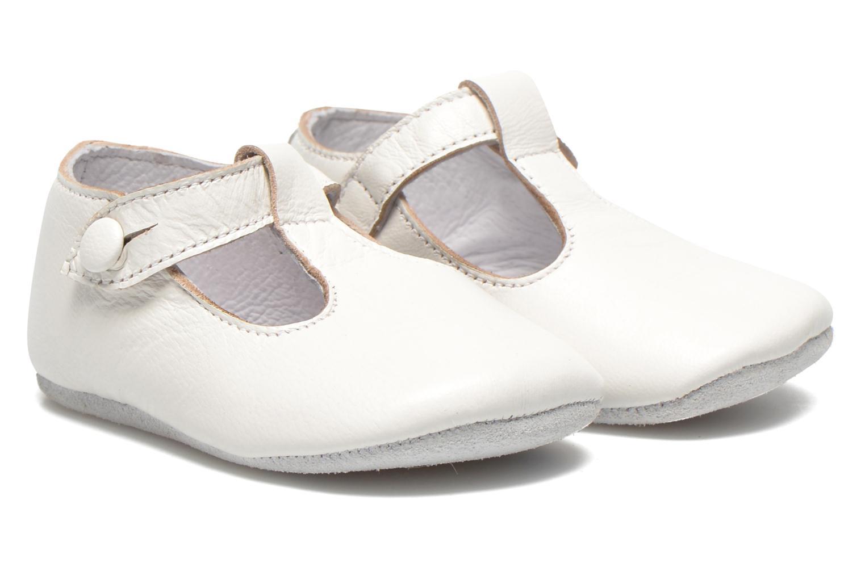 Hjemmesko Start Rite Baby Edward Hvid detaljeret billede af skoene