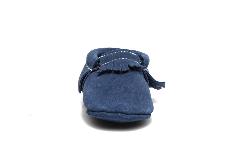 Chaussons Hippie Ya Mocassins Daim Bleu vue portées chaussures