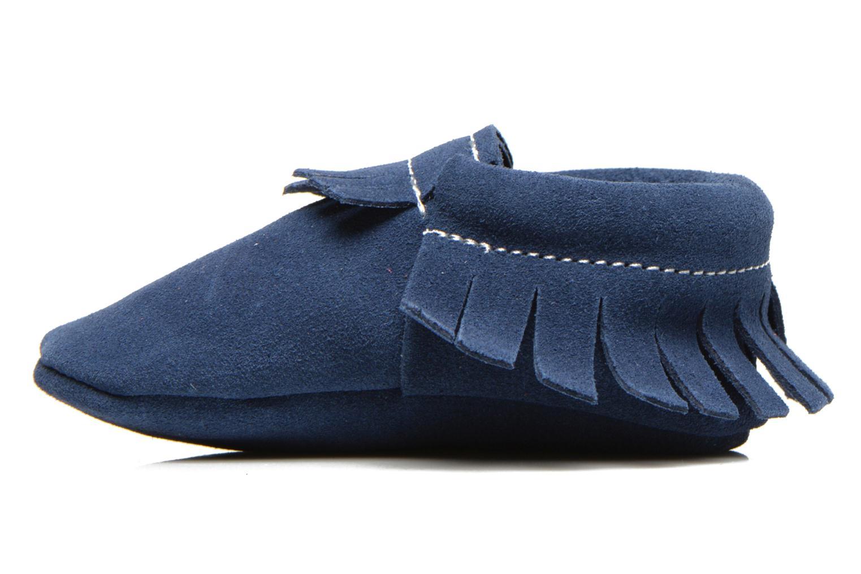 Pantoffels Hippie Ya Mocassins Daim Blauw voorkant