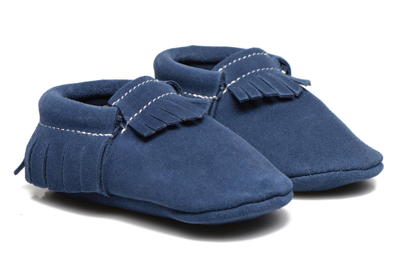 Pantoffels Hippie Ya Mocassins Daim Blauw detail