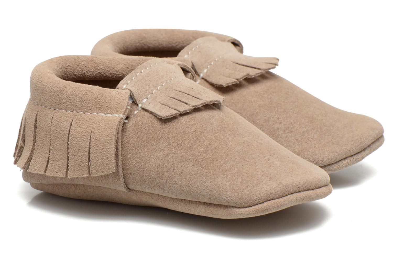 Pantoffels Hippie Ya Mocassins Daim Beige detail