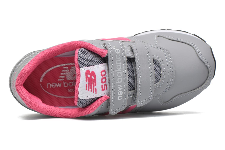 Sneaker New Balance KV500 grau ansicht von links