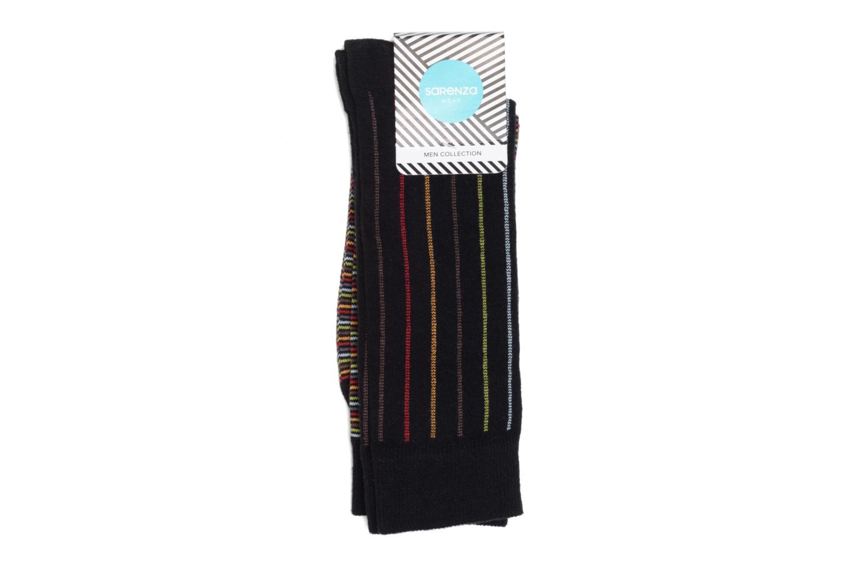Chaussettes Rayures Pack de 2 Noir