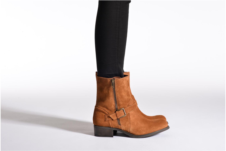 Bottines et boots Georgia Rose Anilda Noir vue bas / vue portée sac