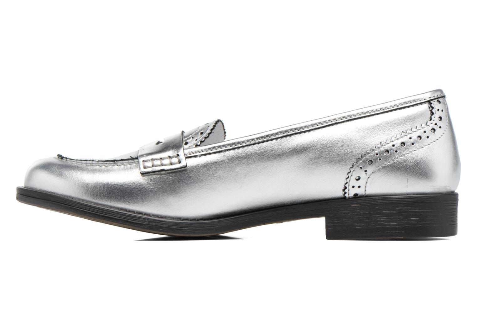 Loafers Georgia Rose Ananda Silver front view