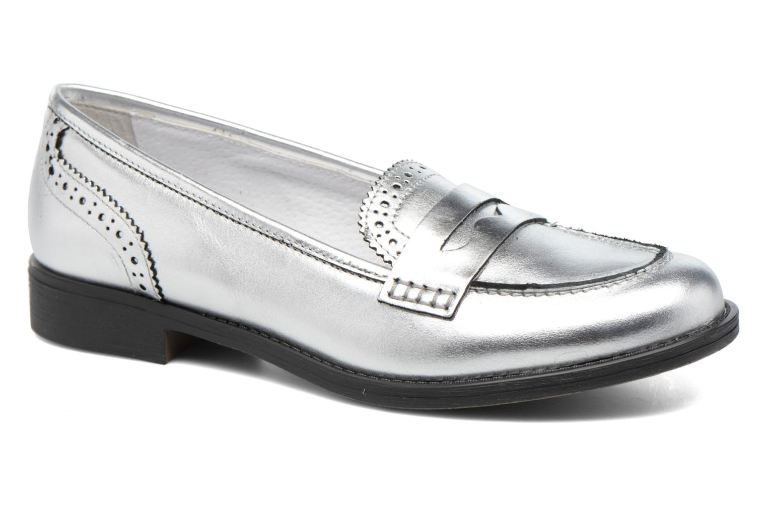 Loafers Georgia Rose Ananda Silver detailed view/ Pair view