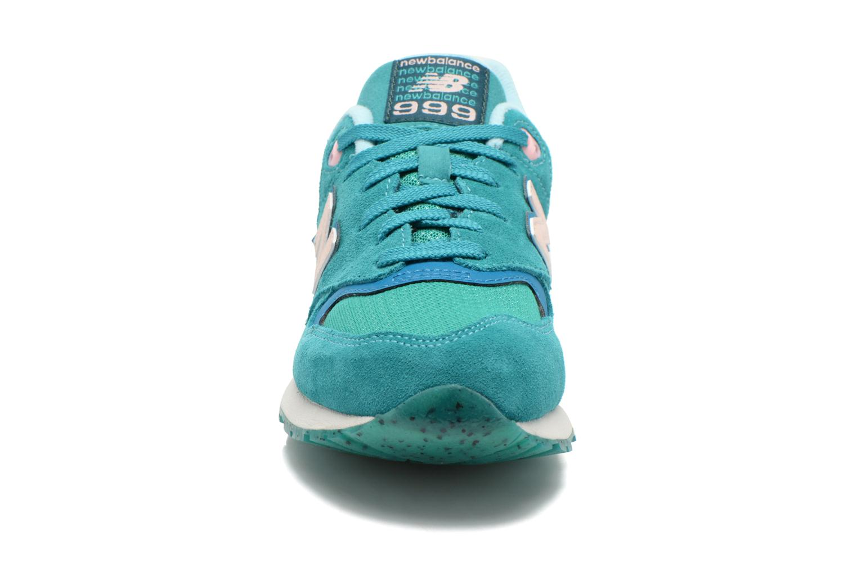 Baskets New Balance WL999 Vert vue portées chaussures