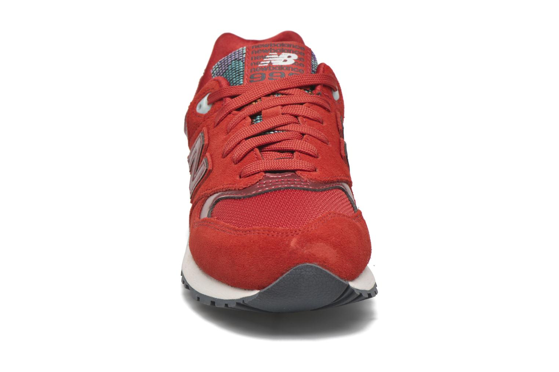 Sneaker New Balance WL999 rot schuhe getragen