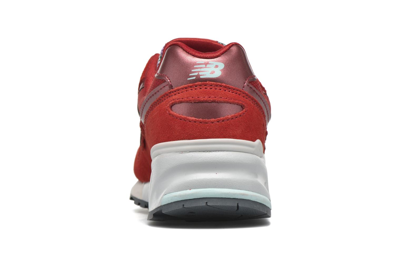 Sneaker New Balance WL999 rot ansicht von rechts