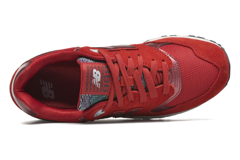 Sneaker New Balance WL999 rot ansicht von links