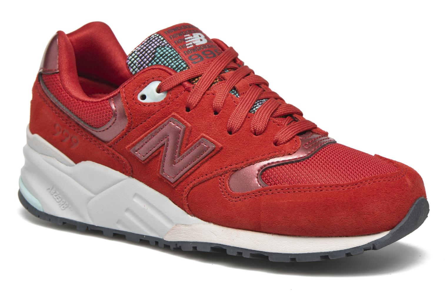 Trainers New Balance WL999 Red detailed view/ Pair view