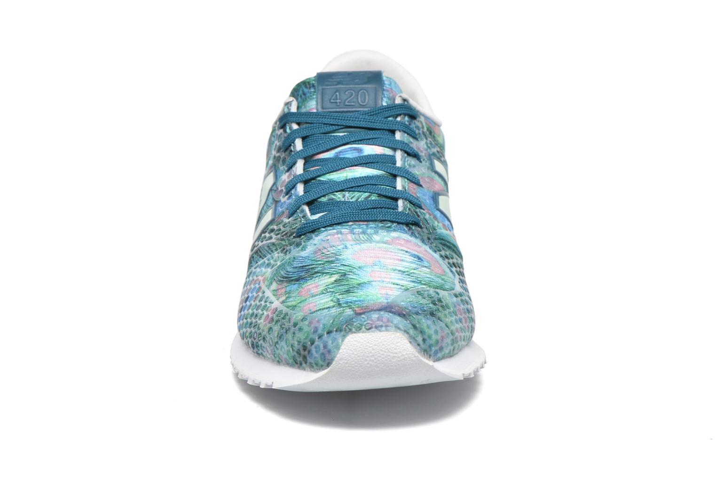 Sneaker New Balance WL420 grün schuhe getragen