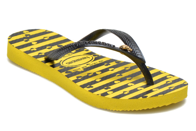 Zehensandalen Havaianas Kids Slim Bugs gelb detaillierte ansicht/modell