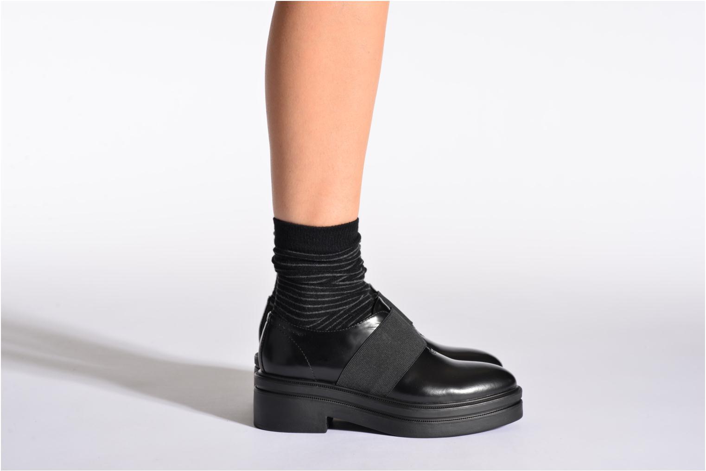 Chaussettes et collants Doré Doré Chaussettes RAYURES TENDRESSES Noir vue portées chaussures